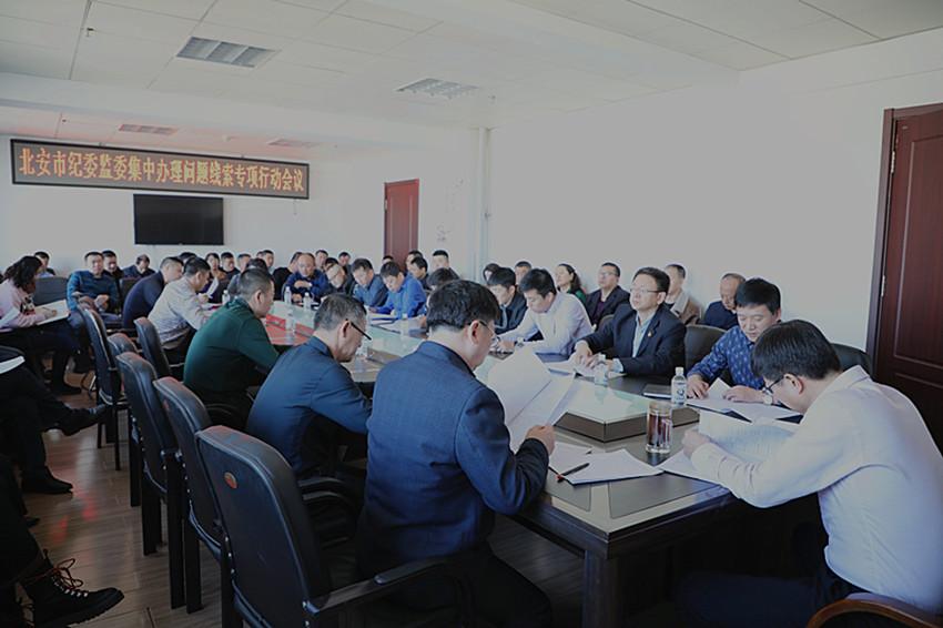 北安市纪委监委召开集中办理问题线索专项行动会议