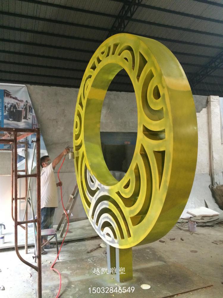 不锈钢圆环雕塑厂家 不锈钢圆环雕塑生产 不锈钢圆环雕塑制作