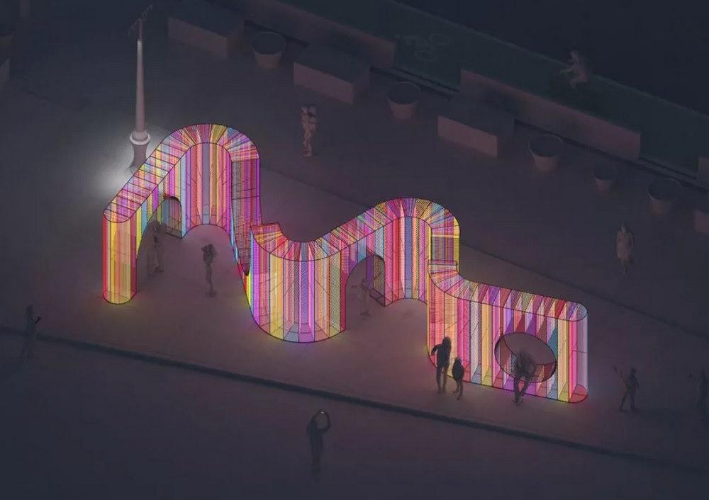 建筑工作室hou de sousa最新彩虹燈光裝置作品Ziggy _ 2019年Flatiron Public Pl (1).jpg