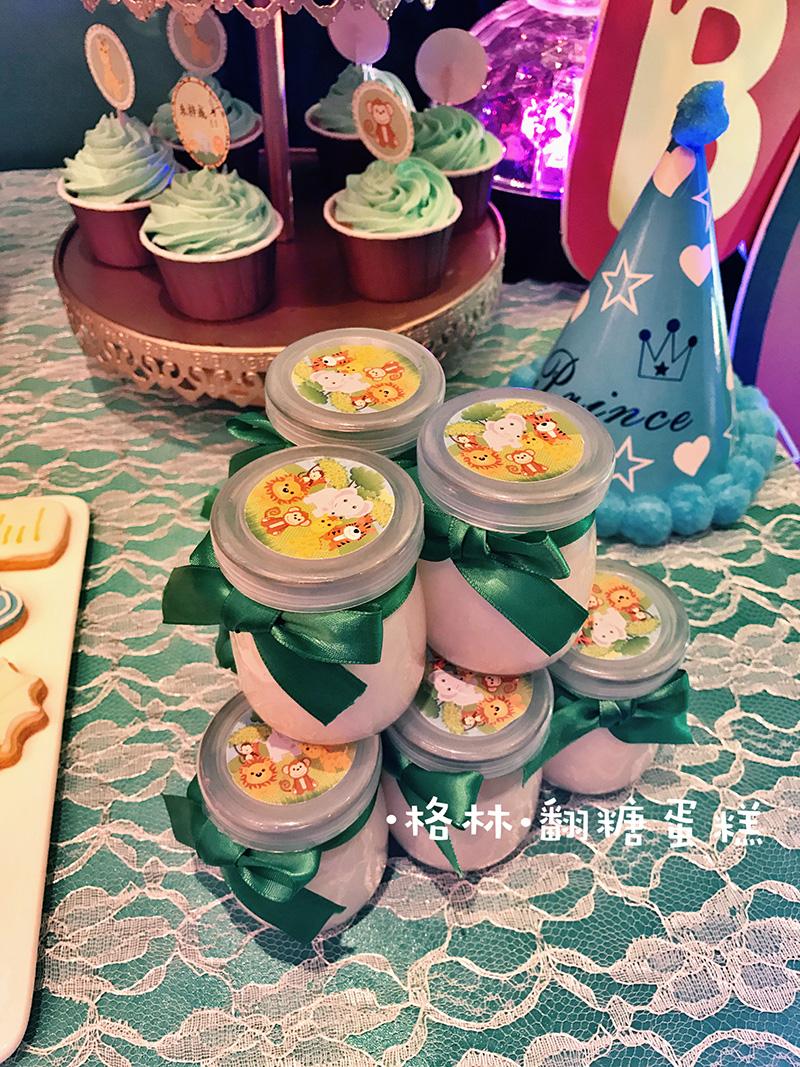 动物森系宝宝宴甜品桌