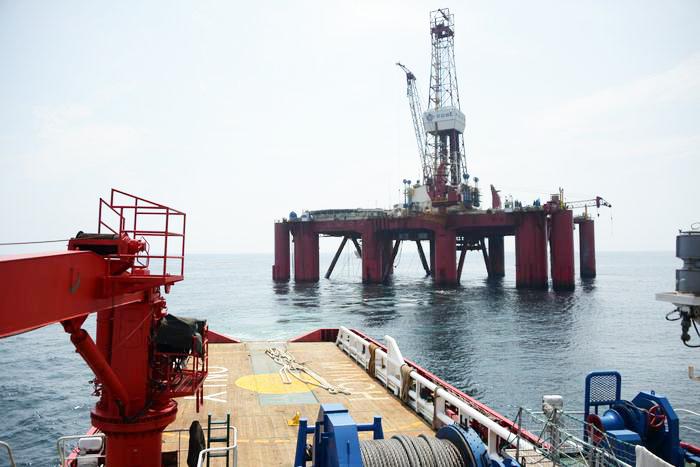胜利油田海上石油平台