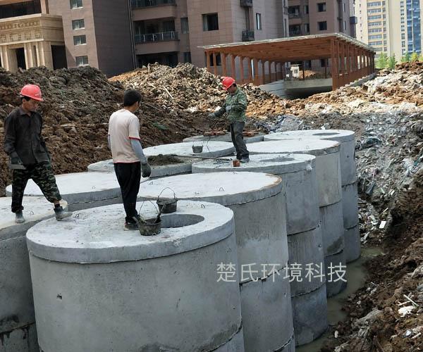 合肥安糧城市廣場化糞池工程