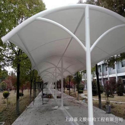 膜结构自行车棚案例展示