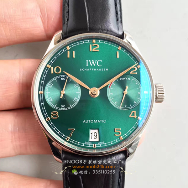 【ZF厂V4版】万国葡7葡萄牙七日链骚绿色科威特限量腕表
