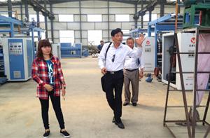 越南客户来公司验收设备