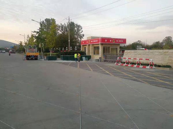 凤阳县消防大队禁停网格标线施工