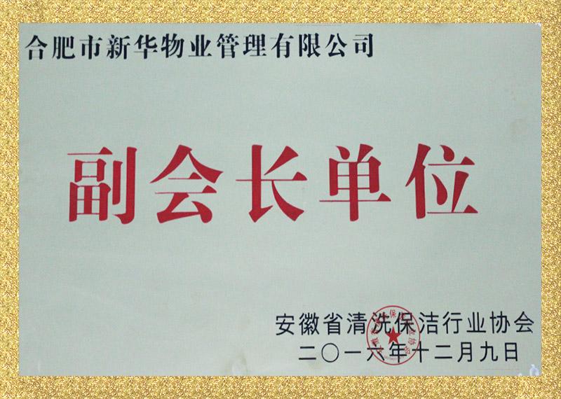 安徽省清洗保洁行业协会副会长单位